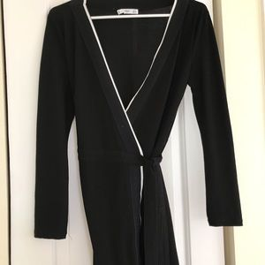 MANGO MNG SUIT black and white wrap XS